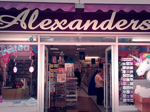 Personalised Cards and Gifts from Alexander's Gifts