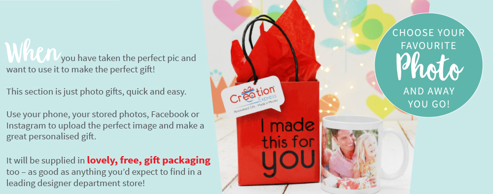 Photo Gifts Available From Creation Express