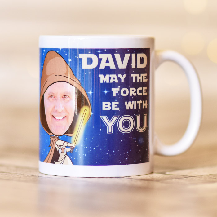 Personalised Star Wars Spoof Photo Mug