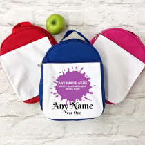 Personalised Any Image Upload with Text - Lunch Bag