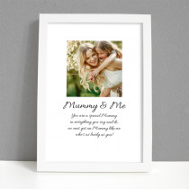 Personalised Photo Frame - Mummy and Me Photo with Verse - Large Frame