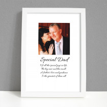Personalised Photo Framed Art Print for Dad with Message
