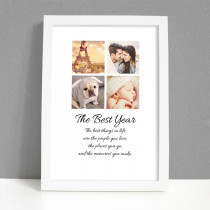 Personalised Framed Art Photo Print for Best Year
