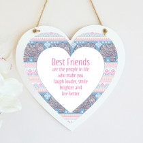 Tribal Elephant Pattern - Hanging Heart