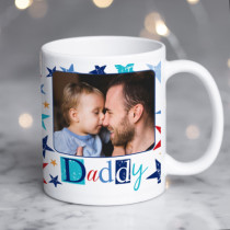 Personalised Grunge Star Daddy Photo Mug