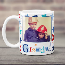 Personalised Grunge Star Grandad Photo Mug