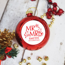 Mr And Mrs - Christmas Bauble