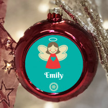 Personalised Angel - Christmas Bauble