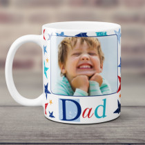 Personalised Grunge Star Dad Photo Mug