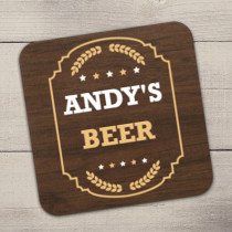 Personalised Beer Coaster