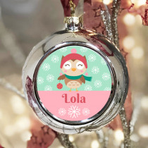 Personalised Owl - Christmas Bauble