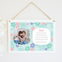 Personalised Arms That Hold Photo Hanging Plaque