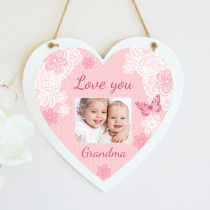 Personalised Sentimental Love You Photo Hanging Heart