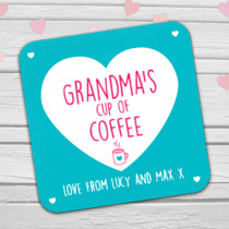 Personalised Grandma's Coffee/Tea Coaster