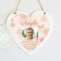 Sentiments Angels - Hanging Heart With Photo Upload