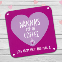 Personalised Nanna's Coffee/Tea Coaster