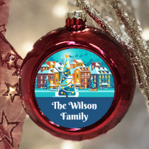 Personalised Snow Town - Christmas Bauble