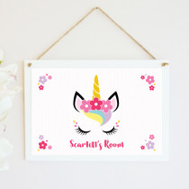 Personalised Unicorn Hanging Plaque
