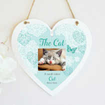 Sentiments Spoilt Cat - Hanging Heart With Photo Upload