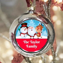 Personalised Characters Singing - Christmas Bauble