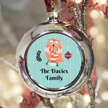 Personalised Owl Craft - Christmas Bauble