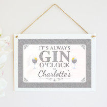 Personalised Gin And Tonic Hanging Plaque