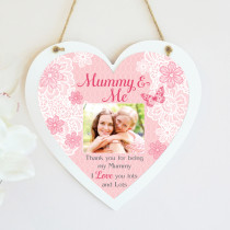 Personalised Sentimental Mummy & Me Photo Hanging Heart