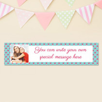 Personalised Little Flowers Pattern Photo Banner