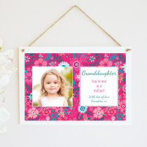 Personalised Granddaughter Photo Hanging Plaque