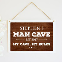 Personalised Man Cave Hanging Plaque