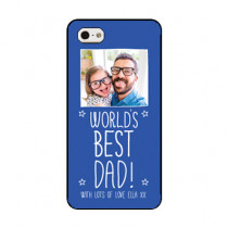 Personalised World's Best Dad - iPhone 5 Case