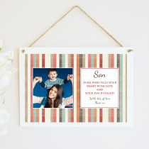 Personalised Son Photo Hanging Plaque