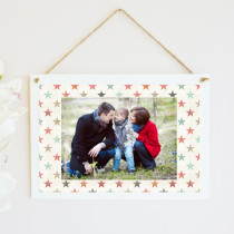 Personalised Stars Photo Hanging Plaque