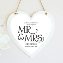 Personalised Mr And Mrs Hanging Heart