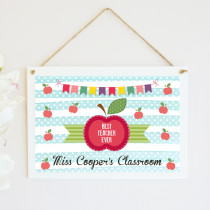 Personalised Teacher Classroom - Hanging Plaque