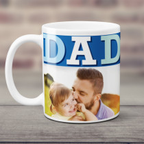 Personalised Blue Dad Photo Mug
