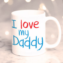 Personalised I Love My Daddy Photo Mug