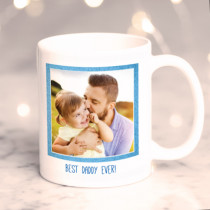 Personalised Blue Frame Photo Mug