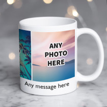 Personalised Three Photos Ceramic Mug With Text