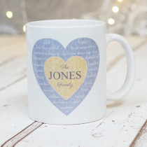 Christmas Family Heart Text Non Photo - Ceramic Mug