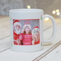Christmas Bright General Photo Upload - Ceramic Mug