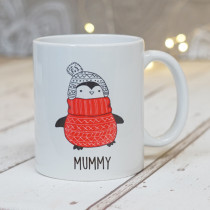 Christmas Penguin One - Ceramic Mug