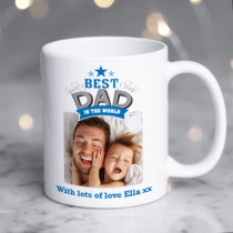 Personalised Best Dad In The World Photo Mug