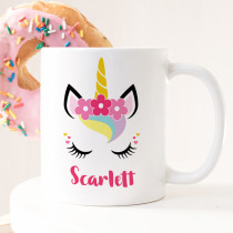 Personalised Unicorn Eyes Mug