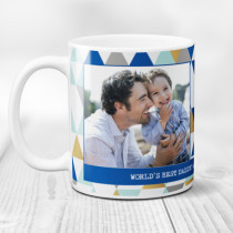 Personalised Blue Diamond Photo Mug