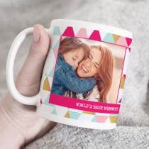 Personalised Pink Diamond Photo Mug
