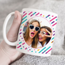 Personalised Retro Stripe Photo Mug
