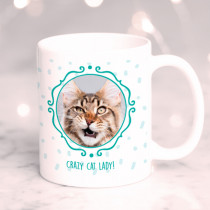 Personalised Crazy Cat Lady Photo Mug