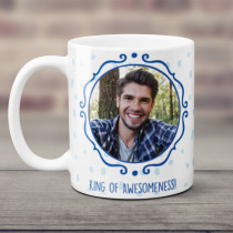 Personalised King Of Awesomeness Photo Mug