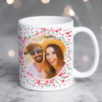 Personalised Love Heart Sprinkle Photo Mug